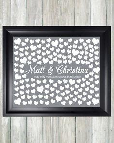 Wedding Guestbook Alternative Art Print Custom by CaldsonDesigns, $38.00