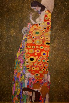 Gustav Klimt - Hope II (detail), 1907 - MoMA, NYC