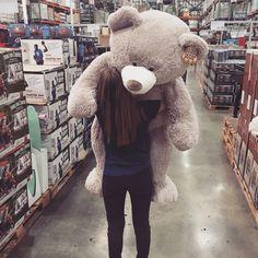 Huge Teddy Bears, Giant Teddy Bear, Girls Dp, Cute Girls, Costco Bear, Tedy Bear, Giant Stuffed Animals, Teddy Girl, Teddy Bear Pictures