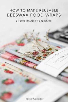 A fun craft project that reduces plastic use, food waste and expenses, our method for making Reusable DIY Beeswax Wraps is simple and effective, and aims to reduce your carbon footprint while having fun in the kitchen. Get the method at Bees Wax Wraps, Bees Wrap, Bees Wax Wrap Diy, Diy Beeswax Wrap, Fun Crafts, Arts And Crafts, Reusable Food Wrap, Tips & Tricks, Artisanal