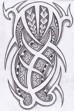 Polynesian And Tribal Tattoos Design