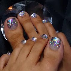 Get nails, glitter toe nails, cute toe nails, sassy nails, toe Pretty Toe Nails, Cute Toe Nails, Sassy Nails, Dope Nails, Pretty Toes, Toe Nail Color, Toe Nail Art, Nail Colors, Glitter Toe Nails