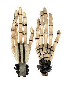 Adorable skeleton hands for Halloween! Hades Hand Hair Clip Pair from Hairy Scary