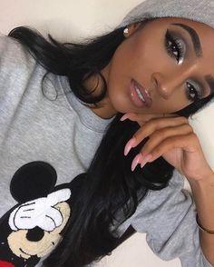 Easy And Attractive Eye Makeup For Beginners Glam Makeup, Sultry Makeup, Baddie Makeup, Dark Skin Makeup, Flawless Makeup, Cute Makeup, Gorgeous Makeup, Eyeshadow Makeup, Makeup Tips