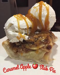 Caramel Apple  Slab Pie !!! You all need to come to my house RIGHT NOW to taste this! .  . #delicious #caramel #eeeeeats #warmapplepie #baking #pie #piealamode #huffposttaste #huffpostgram #buzzfeedfood #thekitchenwhisperer #icecream #pittsburgh #steelers #foodporn #chef #cheflife