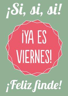 Otra semana que se acaba y una menos para acabar el año. ¡Feliz #viernes a todos!