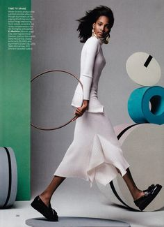 Tami Williams by Craig McDean for Vogue US April 2015 stella mccartney ribbed turtle neck