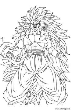 Coloriage De Dragon Ball Z Sangoku Super Sayen 10 Desenho De
