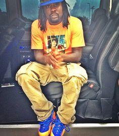 "61f1a0ce78308 Wale in the Nike Air Foamposite One ""Knicks"" Celebrity Sneakers"