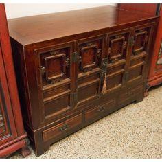 Ornate Oriental Low Cabinet