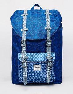 Herschel Supply Co Little America Backpack in Tile Print