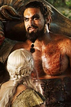 Jason Momoa, Game of Thrones.  One of the best fight scenes ever.  I'm obsessed.