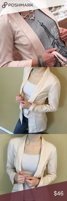 💕2x HP💕Pale pink blazer Pale pink/cream colored blazer. There aren't any buttons for closure and the pockets on the front are fake. Maurices Jackets & Coats Blazers