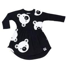 Huxbaby - Swirl Dress big falling bears 1