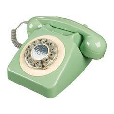 Téléphone fixe 746 british vert - Wild & Wolf