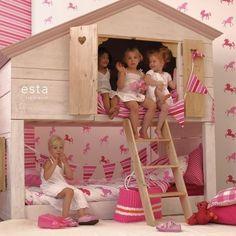 Kids Room Ideas indoor playhouse. Fieb en Fenne zouden zot worden van blijdschap!