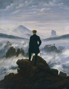 Check out Caspar David Friedrich, Wanderer above the Sea of Fog (ca. From Alte Nationalgalerie William Turner, Casper Friedrich, Casper David, Canvas Wall Art, Canvas Prints, Oeuvre D'art, Art Techniques, Art History, Fine Art Prints