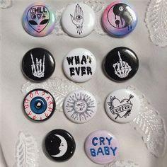 "'grunge' pinback buttons 1"""