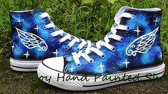 #Galaxy Glow in the dark Custom Design Shoes High Quality Hand Pa