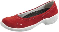 Sievi ballerina shoes in red leather. Sizes 35-43 (EU). #size43shoes