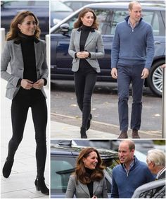 """Royal Family News on Instagram: """"#NEW 💕💕KATE'S BLAZER😍30 October 2018•The Duke and Duchess of Cambridgevisited the Royal Foundation's Coach Core programme in Essex. Kate…"""" Duke And Duchess, Duchess Of Cambridge, Duchess Kate, Royal Family News, Fall Looks, Kate Middleton, Going Out, Blazer, Core"""