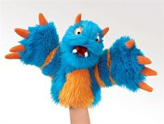 Blue Monster Stage Puppet by Folkmanis Puppets at www.stuffedsafari.com