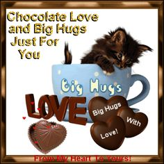 Send a Chocolaty Love & a chocolaty Hug to someone special with this Ecard on #ChocolateDay. www.123greetings.com