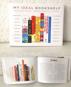 My Ideal Bookshelf is all about the books that we choose to keep, as they can say a lot about who we are and how we see ourselves. Beautiful idea!