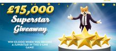 It's time to win £3,000 for 50p! The game starts July 31, 2016, at 8:00 pm. You'll get 5 chances to win a total of £15,000. Card price is just 50p. Click to know more. http://www.onlinebingoz.com/win-15000-foxy-bingos-superstar-giveaway/