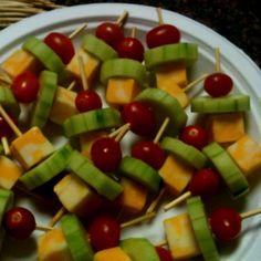 Mini Kabobs for preschool snack