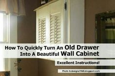 Old drawer n shutters