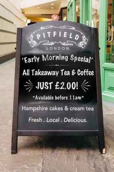 Love a hot cuppa in the morning? All takeaway tea & coffee just £2!   *Available before 11am.    #coffee #winchester #UK #Pitfield #takeaway