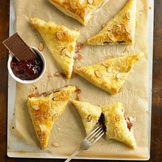 Strawberry-Chocolate Turnovers From Better Homes and Gardens, ideas and improvement projects for your home and garden plus recipes and entertaining ideas.