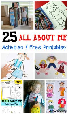 25 All About Me Activities & Free Printables (Totschooling - Toddler and Preschool Educational Printable Activities) Preschool Themes, Kids Learning Activities, Preschool Lessons, Preschool Classroom, Classroom Activities, In Kindergarten, Preschool Activities, All About Me Activities For Toddlers, Friendship Preschool Crafts