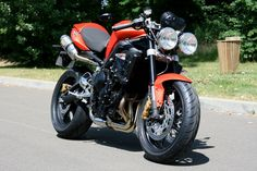 Triumph Street Triple with Clip-ons.