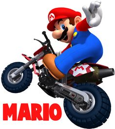 SUPER MARIO - MARIO KART ON BIKE. Out vinyl stickers are perfectly removable, no residue. Super Mario Party, Super Mario Bros, Mario Bros Png, Super Smash Bros, Mario Wii, Mario Und Luigi, Mario Kart 8, How To Draw Mario, Wii Party