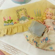 Crinoline Lady Embroidery and Nancy Ann Storybook Doll