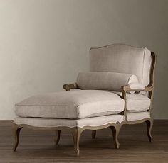 New chaise for the sitting area in our bedroom
