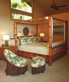 wonderful 39 bright tropical bedroom designs 39 bright tropical bedroom designs with white green brown bed pillow blanket window fan chair sofa nightstand - Tropical Bedroom Designs