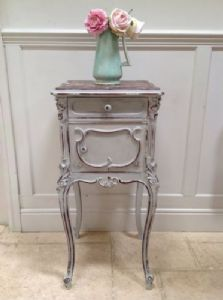 Antique French Marble Top Painted Louis Bedside Cabinet Table Pot Cupboard Grey - 321698634836