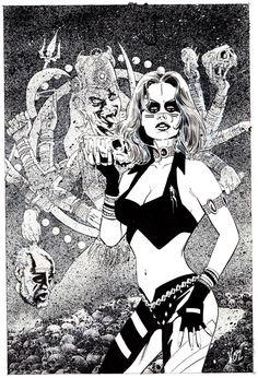 Vosburg - Black Mist: Blood of Kali #1 Cover - Original Comic Art - W.B.