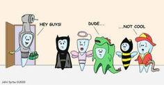 Halloween dental humor! #halloween #dentalfunnies #dentist #dental #dentistry