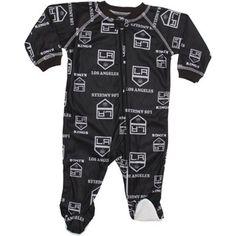 Los Angeles Kings Newborn Logo Print Coverall Sleeper - Black 92fda5a7486f