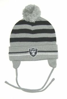 Oakland Raiders NFL Reebok Toddler Striped Knit Beanie Hat by NFL.  12.99.  Size Toddler. Embroidered Logo. Officially Licensed. Oakland Raiders NFL  Reebok ... 18588ec13