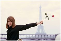 Francoise Hardy with rose, Paris