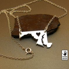 for life!...MARYLAND STATE  sterling silver necklace  sterling by StefanoArt, $40.00