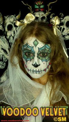 Voodoo Velvet ©SM - sugar skull makeup - Mondays! #voodoo #velvet #skull #voodoovelvet #makeup #sugarskull  #photo #photograph #image #selfportrait #artist #art