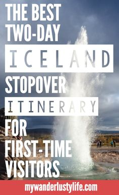 The best two-day Iceland Stopover Itinerary for first-time visitors | Reykjavik, Iceland | Keflavik and Icelandair | Golden Circle Tour | Blue Lagoon | Horseback riding | Icelandic beer | Geysir & Strokkur | Tectonic Plates | Geothermal activity | Fish dinner | Flea market | What to do in Iceland |