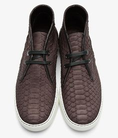 Shoes of the Day: Lanvin Python Skin Mid-top Sneakers | UpscaleHype