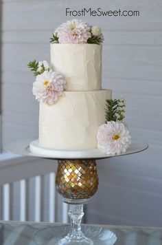 natural rustic country vintage  classic textured buttercream wedding cake by Frost Me Sweet